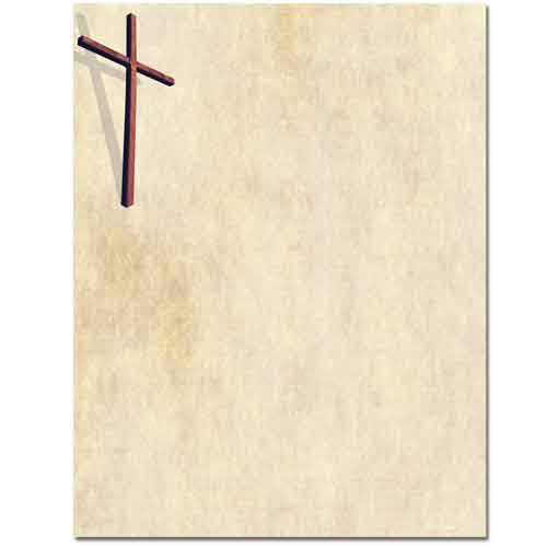 Wooden Cross Letterhead