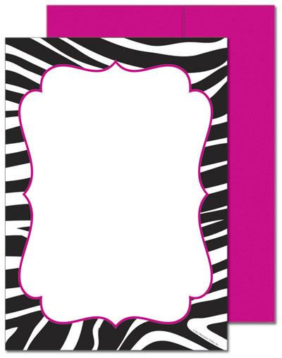 Black & White Zebra Flat Card