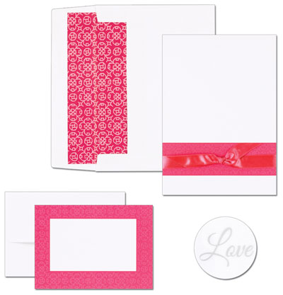 Fuchsia Band Invitation & Note Card Kit