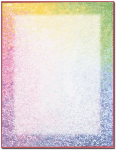 Watercolor Border Letterhead