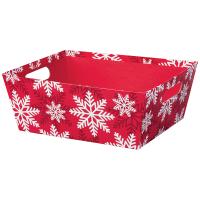 Red & White Snowflake - Large Tray