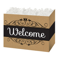 Welcome Kraft Stripes - Large Box