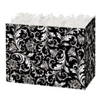 Black and White Damask - Small Box