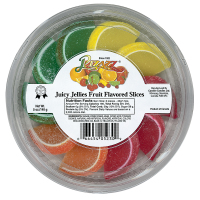 Pizazz Fancy Fruit Flavored Slices - Mini Tub