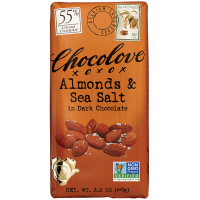 Chocolove Almonds & Sea Salt - Dark Chocolate (55%)