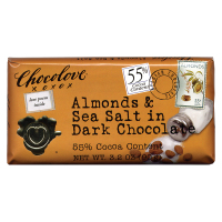 Chocolove Almonds & Sea Salt - Dark Chocolate *** Available Fall, 2020 ***