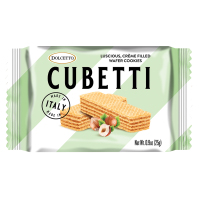 Dolcetto Cubetti Wafers Single - Hazelnut *** 50% off! Best by May 28, 2021 ***