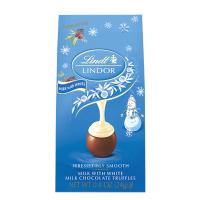 Lindt Lindor Truffle Mini Holiday Bag - Snowman Milk & White Chocolate