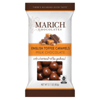 Marich Milk Chocolate English Toffee Caramels - Single Serve