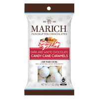 Marich Dark and White Chocolate Candy Cane Caramels - Single Serve  *** Out for the 2020 Season ***
