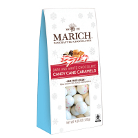 Marich Dark Chocolate Candy Cane Caramels - Gable Box    ***  Available Fall, 2020 ***