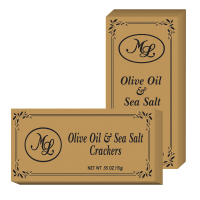 Mille Lacs - Olive Oil and Sea Salt Crackers - Gold