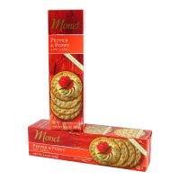 Monet Pepper and Poppy Seed Water Crackers  *** Temporarily Out of Stock ***
