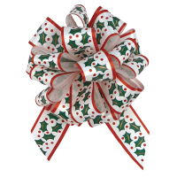"""Perfect Bow - Christmas Holly  - 5-1/2"""" x 20 loops *** Out for the 2019 Season ***"""