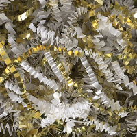 Spring-Fill - crinkle Cut 10 lb. Gold/White Metallic *** Temporarily Out of Stock