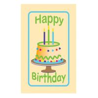 Happy Birthday Label *** Temporarily Unavailable ***