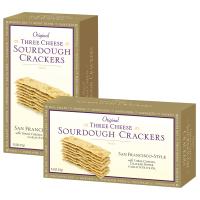 Three Cheese Sourdough Crackers - GOLD Box