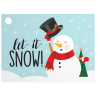 Let It Snowman - Gift Card