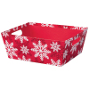 Red & White Snowflake - Large Tray