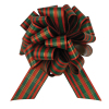 "Perfect Bow - Christmas Plaid  - 5-1/2"" x 20 loops"