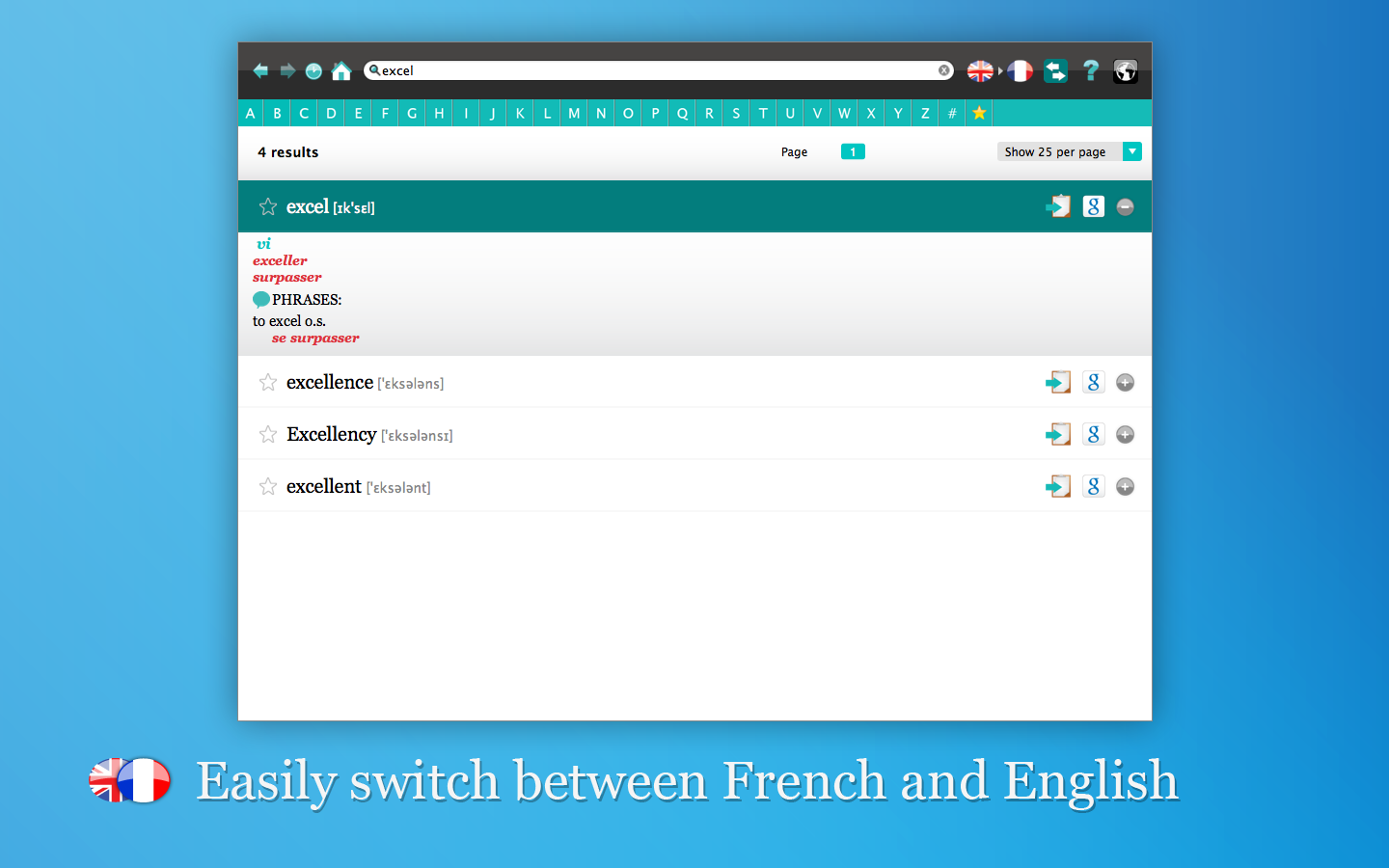 Screenshot 5 - Collins French Dictionary