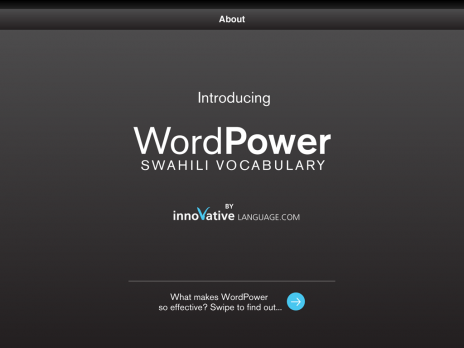 Screenshot 1 - Learn Swahili - WordPower