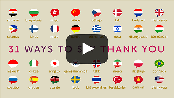 31 Ways To Say Thank You!