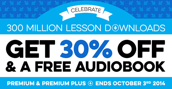 FREE Spanish Audiobook with 30% OFF any Premium or Premium PLUS