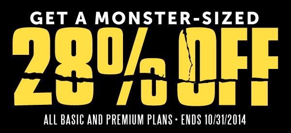 Monster-Sized Sale Starts Now! Click here to get 28% OFF!