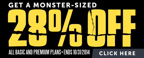 Get a Monster-Sized 28% OFF!