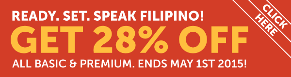 Learn Filipino at 28% OFF Any Basic or Premium Plan!