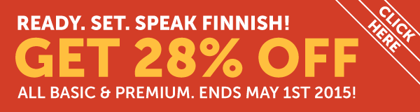 Learn Finnish at 28% OFF Any Basic or Premium Plan!