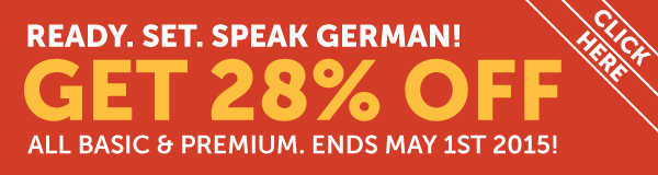 Learn German at 28% OFF Any Basic or Premium Plan!