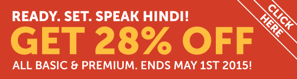 Learn Hindi at 28% OFF Any Basic or Premium Plan!