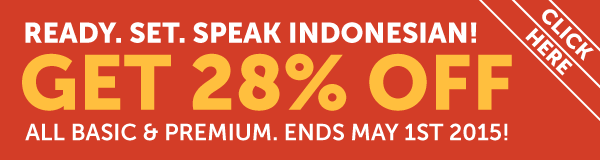 Learn Indonesian at 28% OFF Any Basic or Premium Plan!