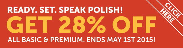 Learn Polish at 28% OFF Any Basic or Premium Plan!