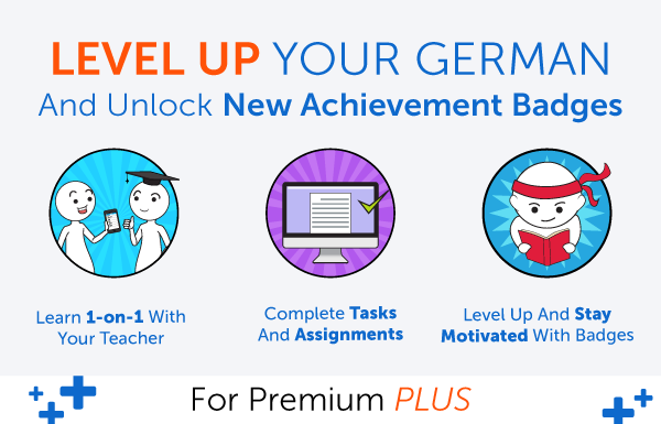 New Feature! Level Up Your German and Earn Badges with 1-on-1 Learning