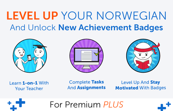 New Feature! Level Up Your Norwegian and Earn Badges with 1-on-1 Learning