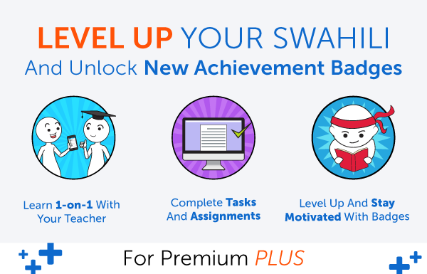 New Feature! Level Up Your Swahili and Earn Badges with 1-on-1 Learning