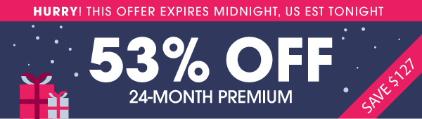 The Anniversary Starts Now! 53% OFF Premium. The Biggest Italian Discount of 2015!