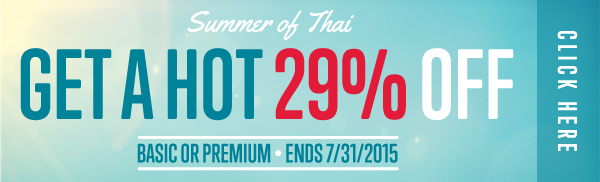 Click here to get a HOT 29% OFF at ThaiPod101!