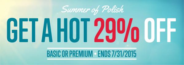 Get a hot 29% OFF!