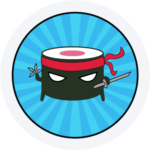 Super Sushi Ninja Badge