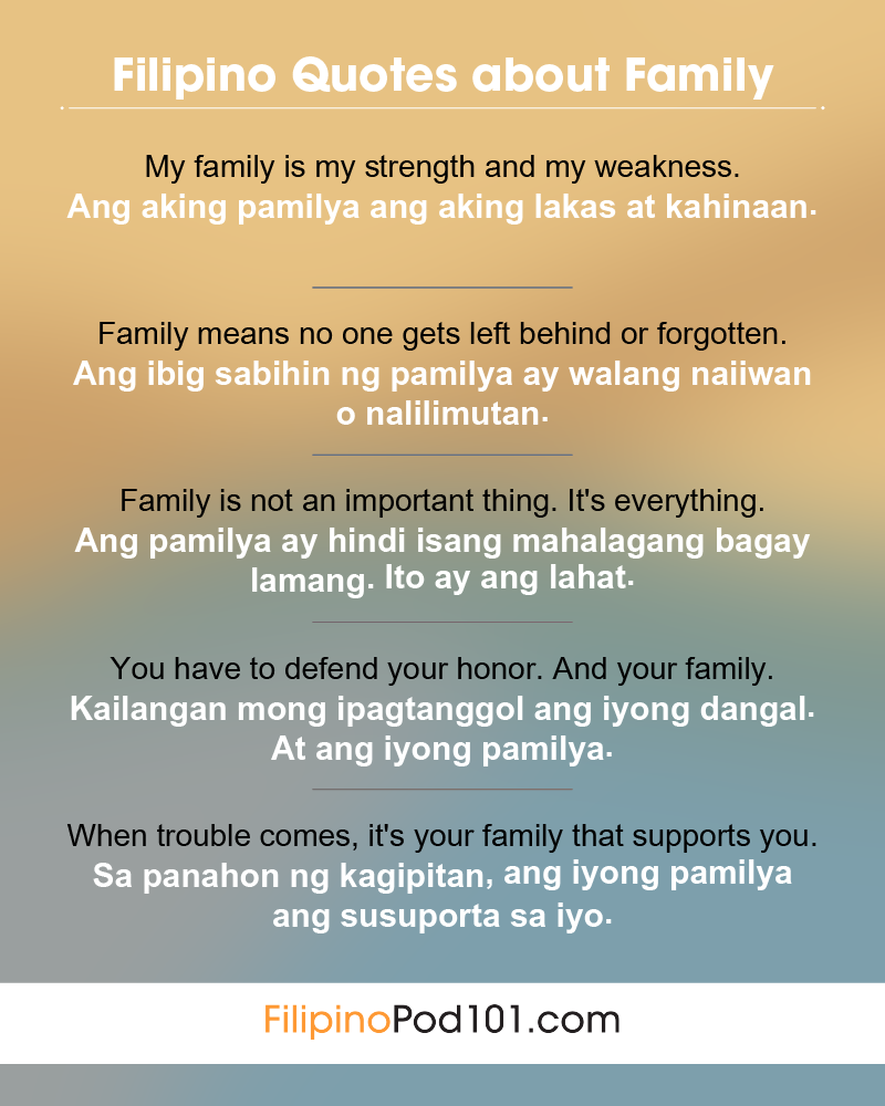 Filipino Family Quotes