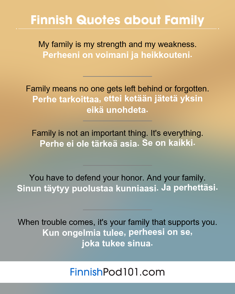 Finnish Family Quotes