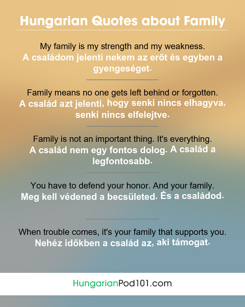 Hungarian Family Quotes