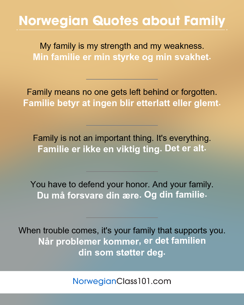 Norwegian Family Quotes