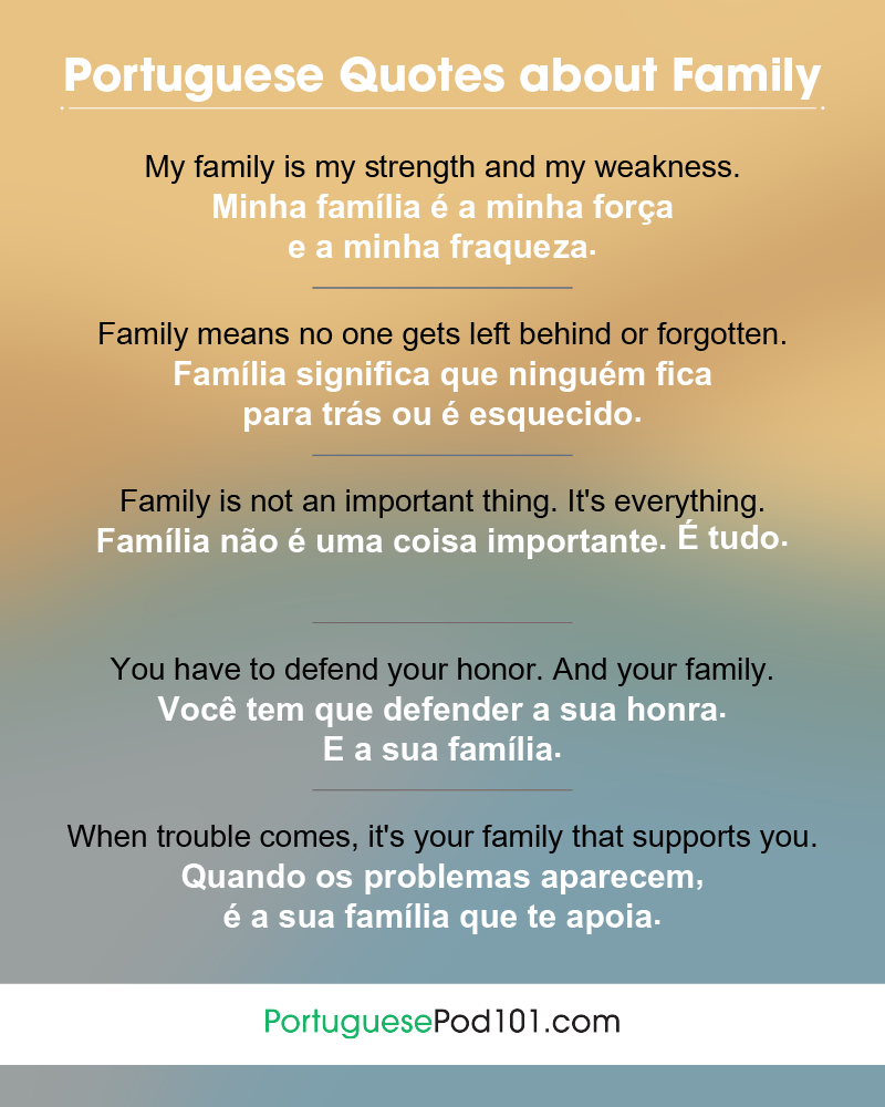 Portuguese Family Quotes