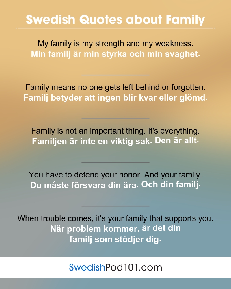 Swedish Family Quotes