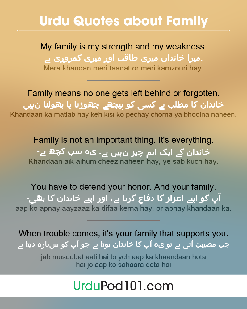 learn how to talk about your family in urdu